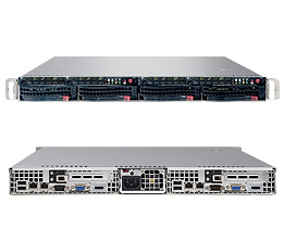 A one unit rack mount server
